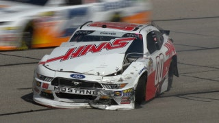 Cole Custer suffers hard crash early at Atlanta | 2018 NASCAR XFINITY SERIES | FOX NASCAR