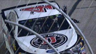 Kevin Harvick salutes Dale Earnhardt after dominating win | 2018 ATLANTA | FOX NASCAR