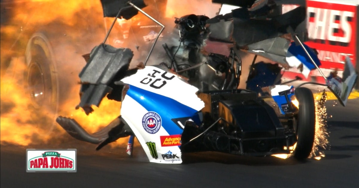 John Force transported to hospital after horrific wreck | 2018 NHRA ...