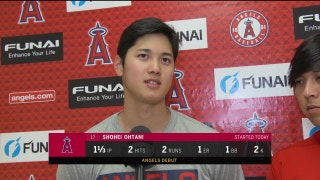 Spring Training Report: See Shohei Ohtani's FIRST post game interview after Angels debut