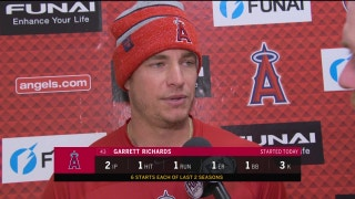 Angels pitcher Garrett Richards: 'I felt really comfortable with everything and the way it was moving.'
