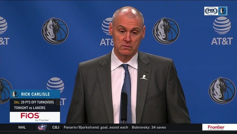 Rick Carlisle on younger guys finishing, win over Lakers