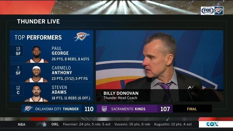 Billy Donovan talks 110-107 win over Sacramento