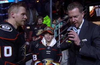 Corey Perry gives young Ducks fan a night to remember!