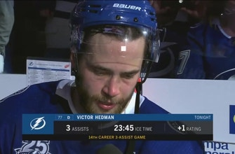 Victor Hedman pleased with how Lightning closed out Thursday's win
