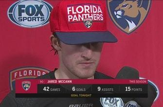 Jared McCann on Panthers' offense, return of Roberto Luongo