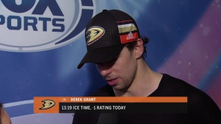 Ducks' Derek Grant steps up in place of banged-up Ryan Kesler