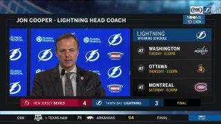 Jon Cooper: We gave the Devils an opportunity to win the game