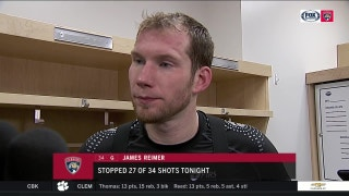 James Reimer reacts to tough outing against the Jets