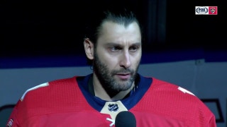 Panthers goalie Roberto Luongo delivers emotional pregame speech