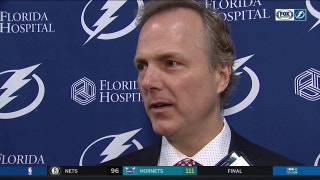 Jon Cooper on Louis Domingue: 'He had command of the net tonight'