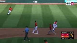 HIGHLIGHTS: Cardinals scratch out first three runs in loss to Marlins