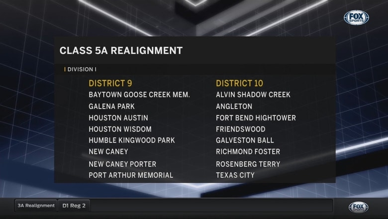 New 5A Div  I Districts 9 Through 15 | UIL Realignment