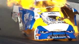 NHRA legend John Force walks away after scary explosion
