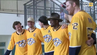 In return to Montreal, PK Subban and Predators teammates visited Montreal Children's Hospital