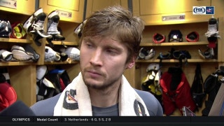 Sergei Bobrovsky doesn't let the emotions of the game get to him