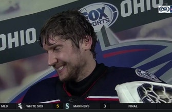 Sergei Bobrovsky doesn't need a stick to keep the puck out of the net