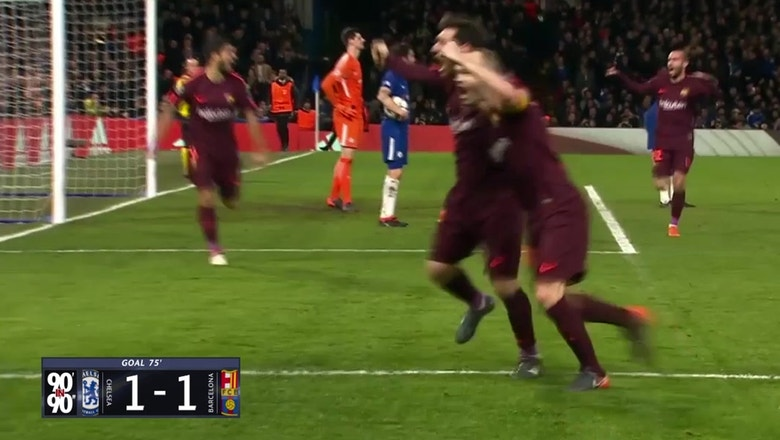 Watch all 90 minutes of Chelsea vs. Barcelona in 90 seconds | 90' in 90?