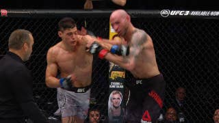 Alan Jouban KOs Ben Saunders with vicious left hook | HIGHLIGHTS | UFC on FOX