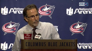 John Tortorella displeased after the game, still gives credit to Bobrovsky on helping the Blue Jackets gain a point