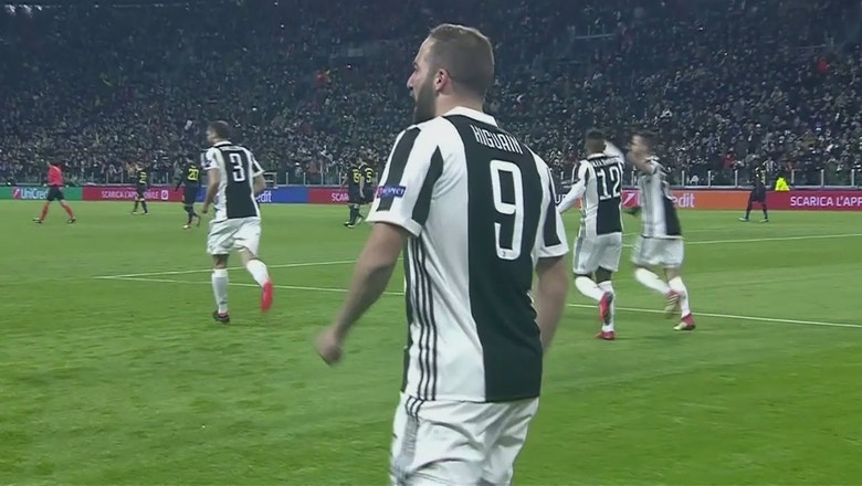 Higuain scores early for Juventus against Tottenham | 2017-18 UEFA Champions League Highlights