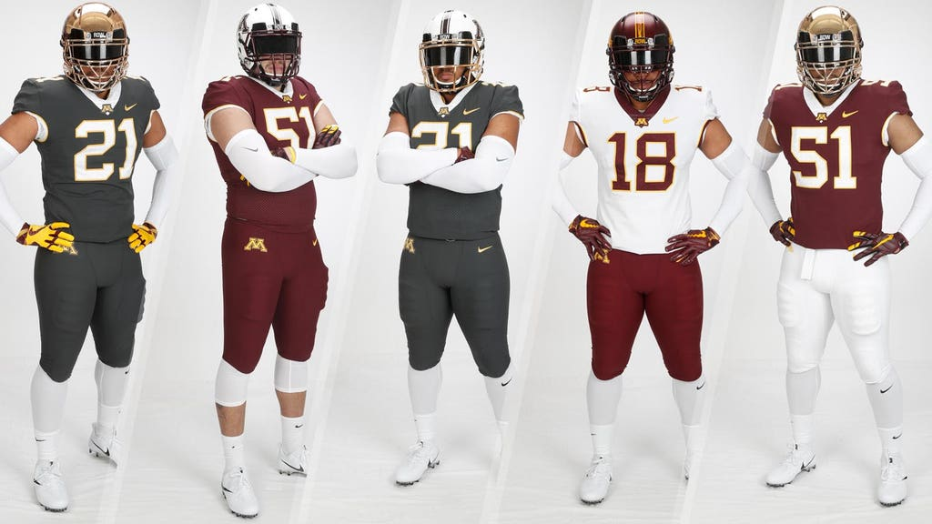 sports shoes fb767 eacbf Minnesota Gophers unveil new football jerseys for 2018