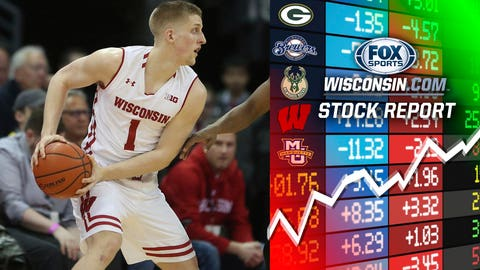 Brevin Pritzl, Badgers guard (⬆ UP)