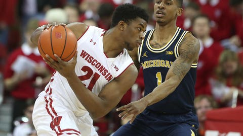 Khalil Iverson, Badgers forward (⬇ DOWN)