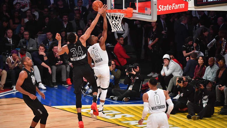 Giannis tallies 16 points in Team Stephen's 148-145 loss