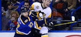Blues have chance to complete season sweep of defending champion Penguins