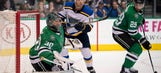 Blues make final trip to Dallas with season series up for grabs