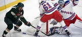 Wild start fast, hold on for 3-2 win over Rangers