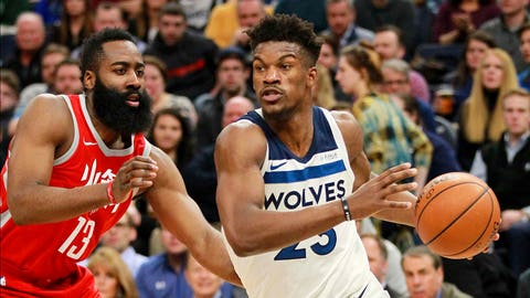 Butler-less Timberwolves pull away late to beat Bulls