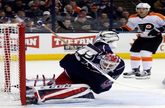 Couturier's OT goal lifts Flyers past Blue Jackets, 2-1