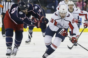 Backstrom's late goal lifts Capitals over Blue Jackets, 3-2