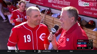 If baseball doesn't work out, Joey Votto may have a future in TV