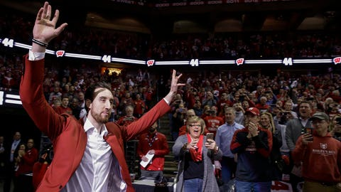 Frank Kaminsky, former Badgers forward (⬆ UP)