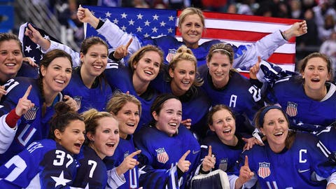 The U.S. women's Olympic hockey team (↑ UP)