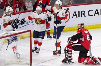 Panthers get goals from 7 different players in blowout win over Senators
