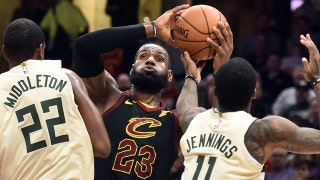Skip Bayless on LeBron's historic 40-pt triple-double night: 'I've never seen him better'