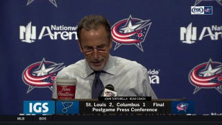 Torts credits Allen, praises Blue Jackets' effort after 2-1 loss.