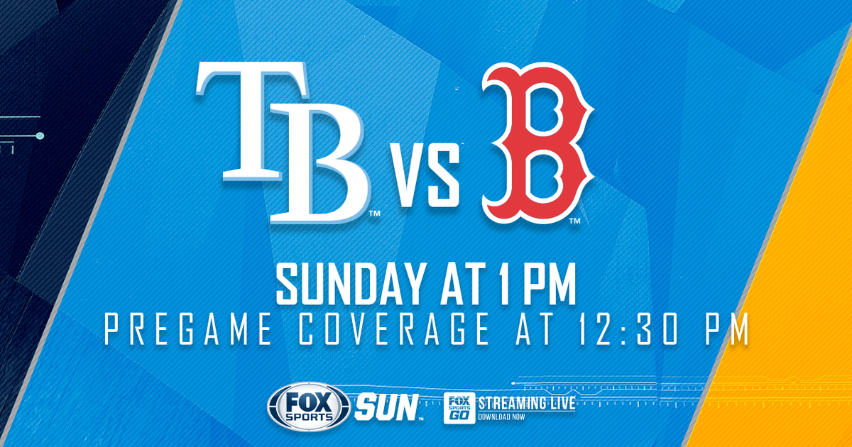 Boston Red Sox At Tampa Bay Rays Game Preview
