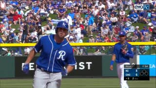 Moustakas hits a three-run homer to put Royals ahead