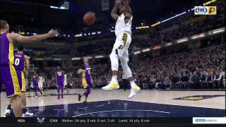 WATCH: Pacers battle back for win over Lakers