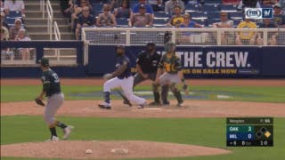 WATCH: Brewers slugger Eric Thames goes yard