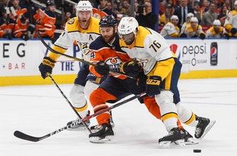 Arvidsson scores twice, Predators rally past Oilers 4-2