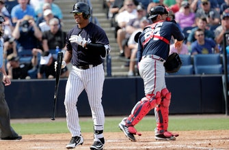 Russell Wilson strikes out in Yanks spring training debut