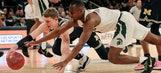 Michigan ends top-seeded Spartans' 13-game winning streak