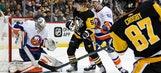 Crosby scores in OT, Penguins slip by Islanders 3-2