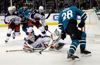 Panarin scores twice, Blue Jackets beat Sharks 4-2